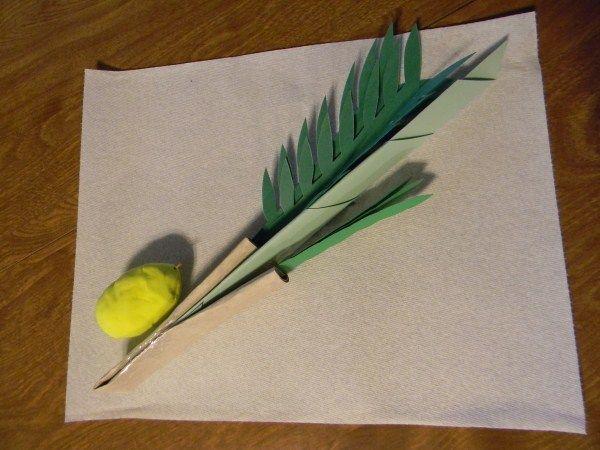 lulav and etrog papercut for sukkot | Celebrate - Sukkot ...  |Sukkot Crafts For Teens