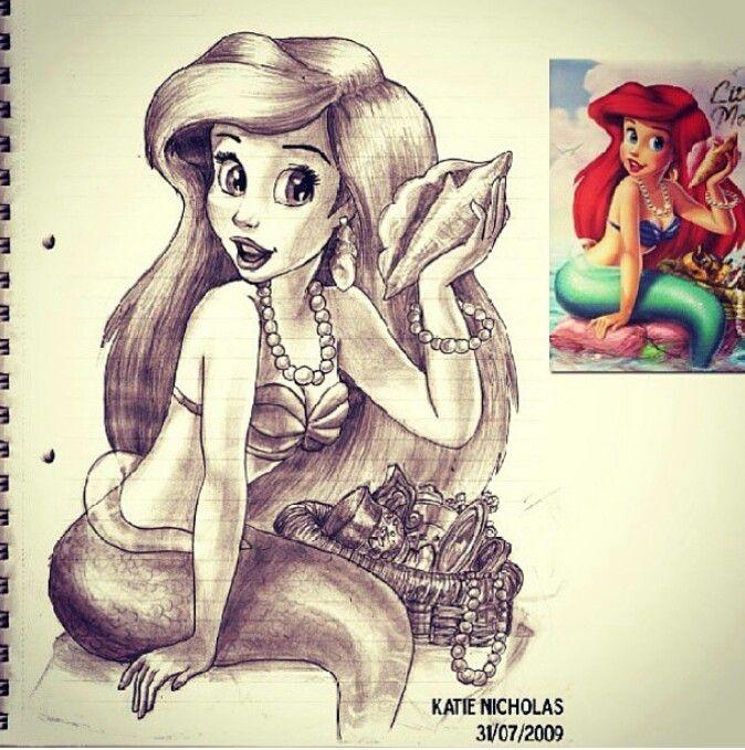 Disney You Re Amazing: Ariel Drawing Amazing!!