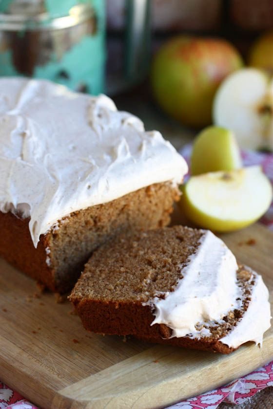 Whole wheat applesauce loaf cake.
