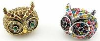 Fashionable Crystal Owl Ring (5 Colors): Crystals Owl, Color, Owl Rings