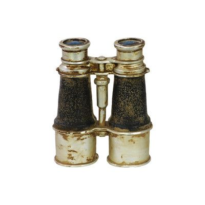 Urban Trends Resin Vintage Binoculars Black