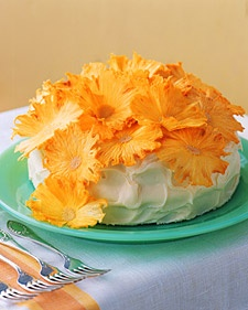 baked/dried pinapple flower toppers (originally inspired by Martha Stewart)