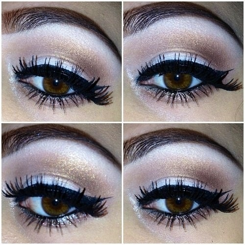 Silver eye makeup w/ liquid liner