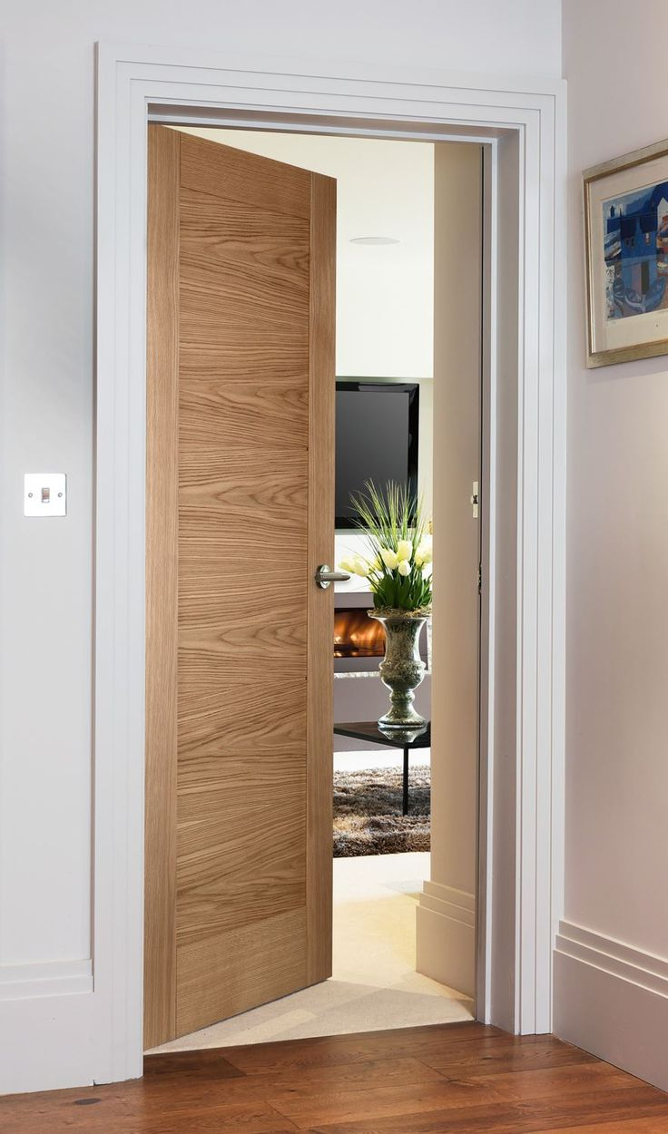 Sienna Natural Oak - contemporary style door for modern homes