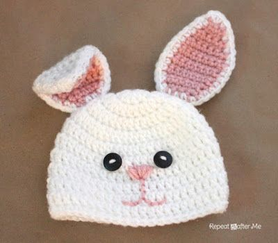 Repeat Crafter Me: Crochet Bunny Hat Pattern*FREE Pattern*