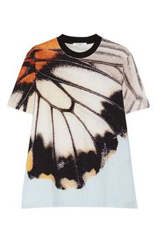 Givenchy Butterfly-print cotton-jersey T-shirt | NET-A-PORTER