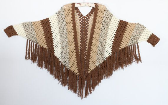 Crochet patrones de Poncho manga poncho Cabo patrón por etty2504
