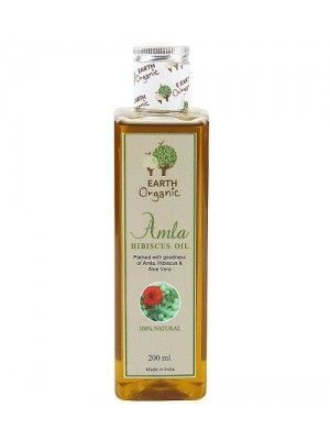 Earth Organic Amla Hibiscus Hair Oil 200ml