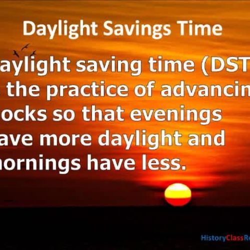 Why do have Daylight Savings Time?