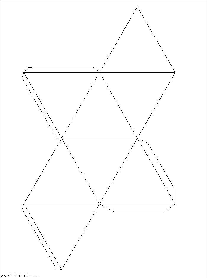 modelo de papel de un octaedro