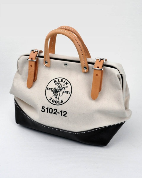 """Klein Tools 12"""" Canvas Tool Bag.  Planning to use this as a handbag this summer.  Inexpensive and practical too!"""