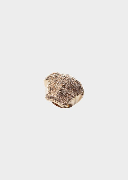 Versace Anillo Strong Wrap Medusa para Mujer | Online Store EU. Anillo Strong Wrap Medusa de la colección Versace Mujer. Este anillo con incrustaciones de strass de Swarovski es uno de los diseños más emblemáticos de Versace.