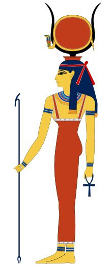 "Hathor is an Ancient Egyptian goddess who personified the principles of love, beauty, music, motherhood and joy. She was one of the most important and popular deities throughout the history of Ancient Egypt. Hathor was worshiped by Royalty and common people alike in whose tombs she is depicted as ""Mistress of the West"" welcoming the dead into the next life.  She was also a goddess of music, dance, foreign lands and fertility who helped women in childbirth, as well as the patron goddess of…"