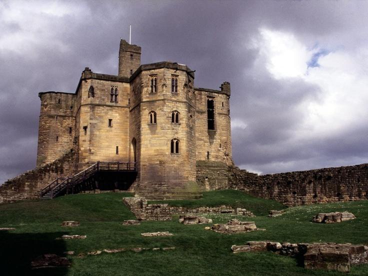 Warkworth Castle, Northumberland, England. Norbrii King of Northumberland.