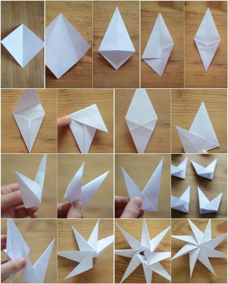 8-zackige Origami Sterne aus Papier falten - Anleitung