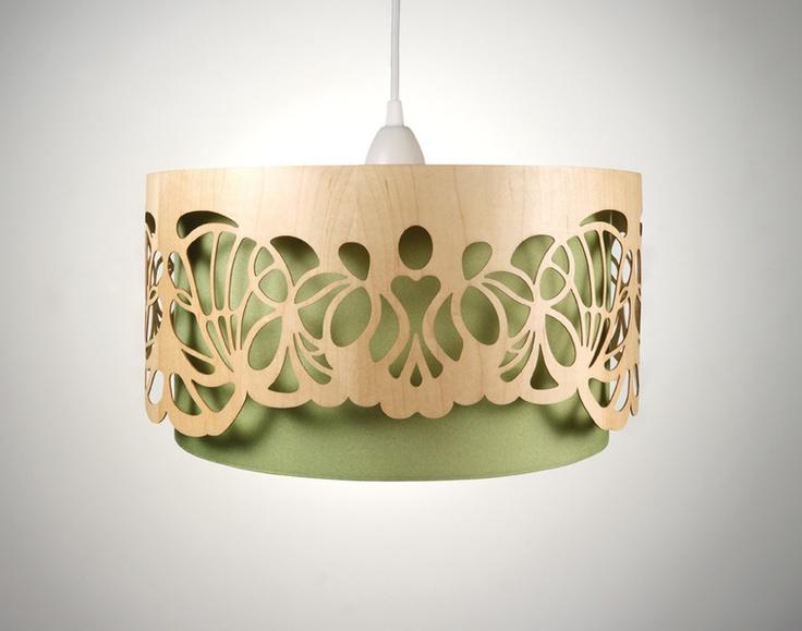Hängelampe Lampenschirm Holz Handmade