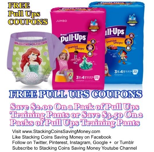 FREE PULL UPS COUPONS 2015 Save $3.00 On Two Packs of Pull Ups Training Pants or Save $2.00 On One Pack Of Jumbo Pull Ups Potty Training Pants With FREE Printable Coupon from Coupons.com - STACKING COINS SAVING MONEY SCSM #Babies #Diapers #moms #PottyTraining #HealthAndBeauty #Coupons #Couponing #CouponCommunity #StackingCoins #SavingMoney #StackingCoinsSavingMoney #SCSM
