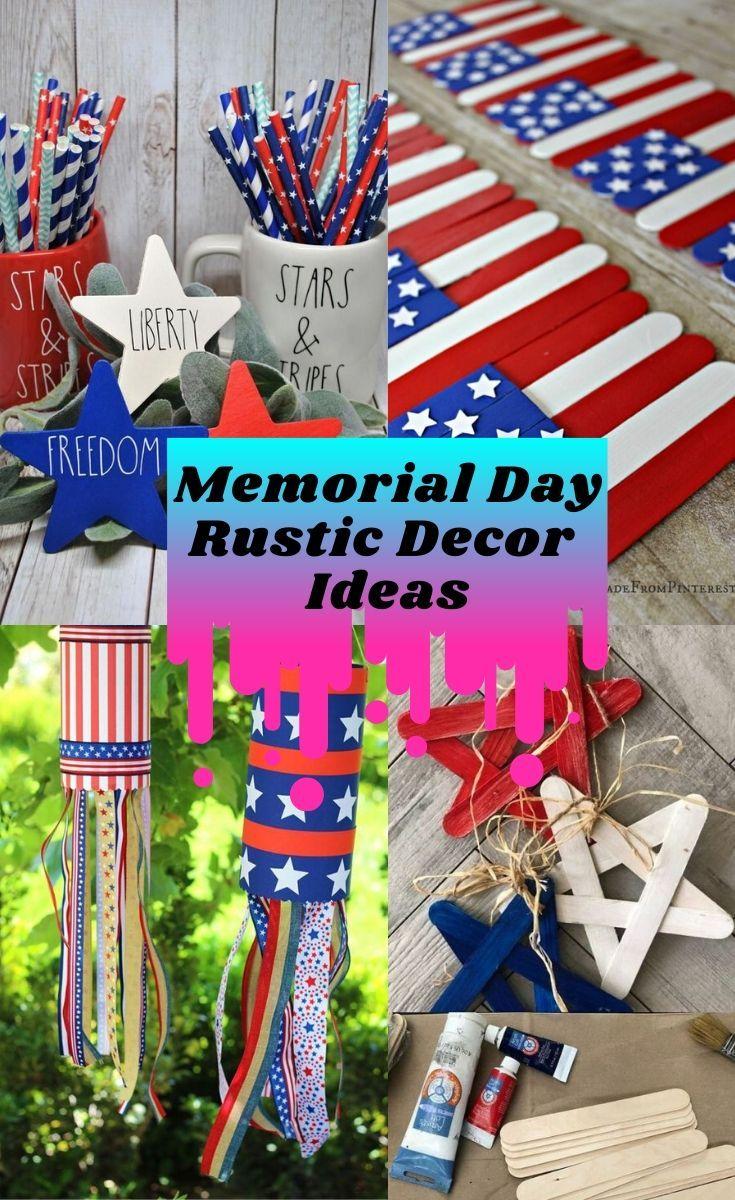 Memorial Day Rustic Decor Ideas Flag Decor Diy Flag Decor Memorial Day