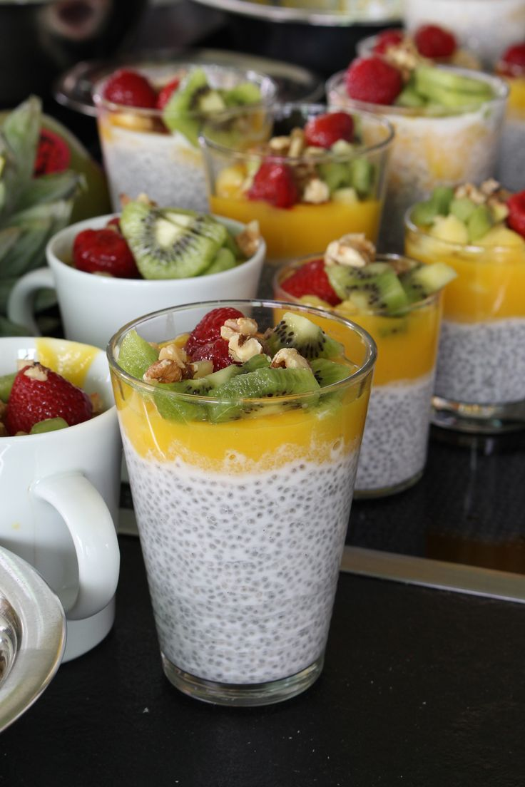 Chia-Pudding mit Fruchtsauce