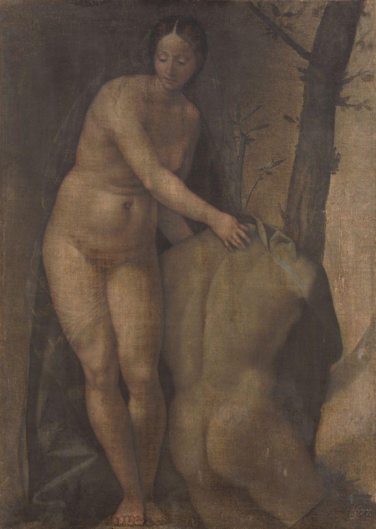 """""""Female Nude with a Male Torso"""" by Girolamo da Treviso via DailyArt app, your daily dose of art getdailyart.com"""