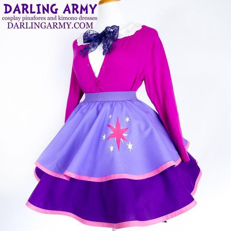 Twilight Sparkle MLP Adult Cosplay Skirt Dress Lolita Purple Accessory   Darling Army