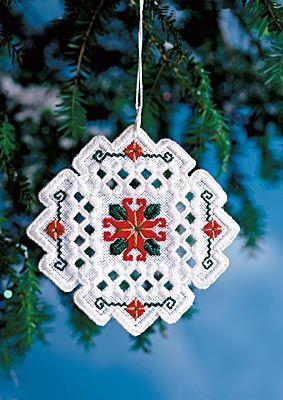 Wintertide Silk kit (Hardanger embroidery)