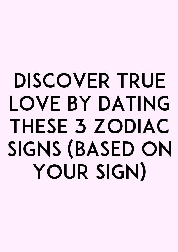 dating by sign