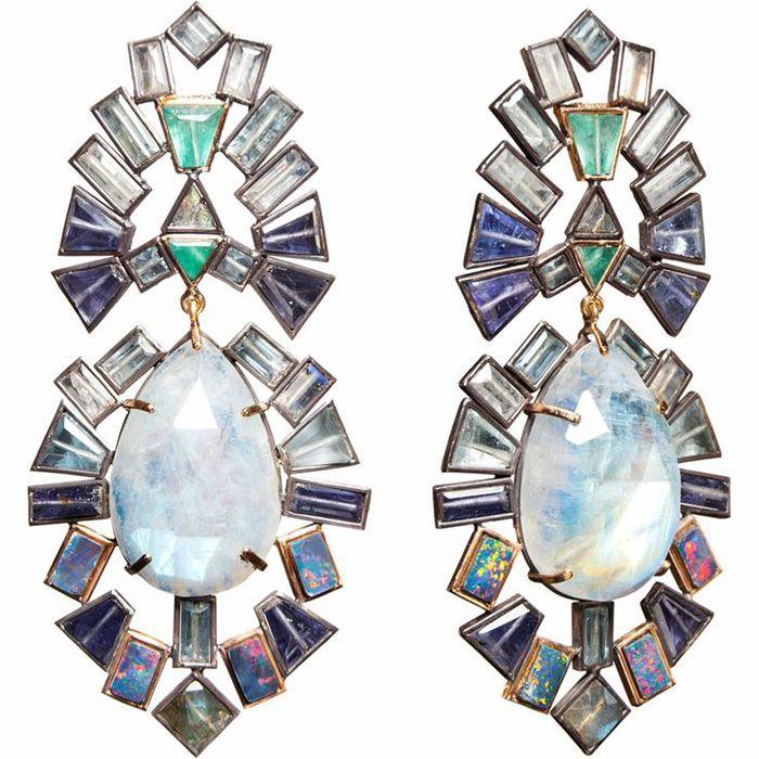 Moonstone earrings by Nak Armstrong