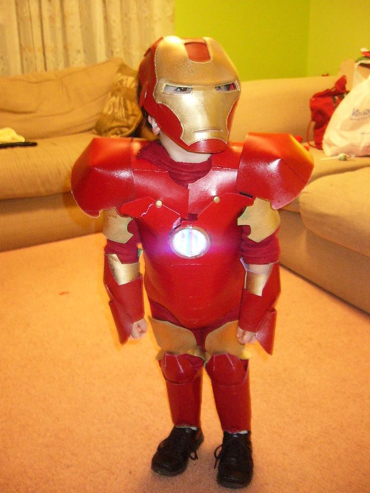 iron man costume out of foam sheets and spray paint