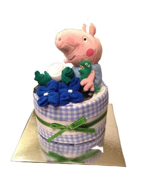 George! nappy cake - Adelaide baby gift