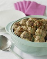 Baked Swedish Meatballs I had a 14 oz can of beef broth so increase the flour and half&half.