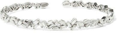 Suzanne Kalan 18 k white gold cuff with 1.15 carats of diamonds ♡♡