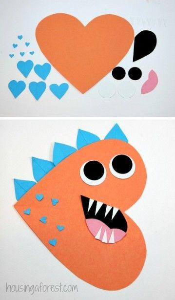 Heart Dinosaur Craft