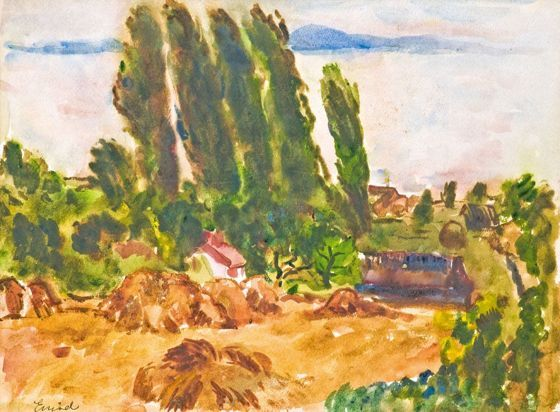 Emőd Aurél: Balatoni kilátás