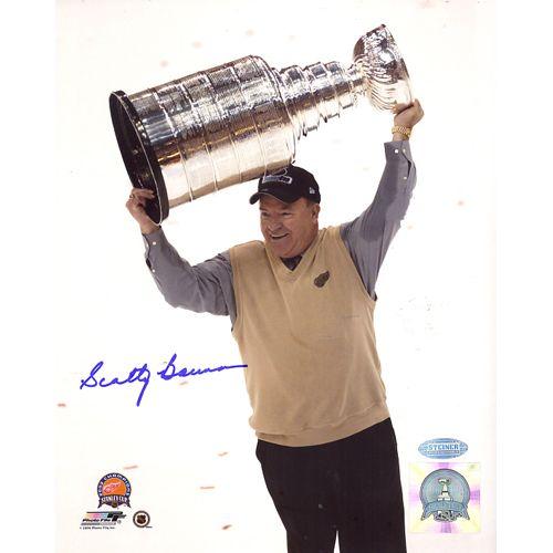 Steiner Scotty Bowman Cup Overhead Vertical 8x10 Photo