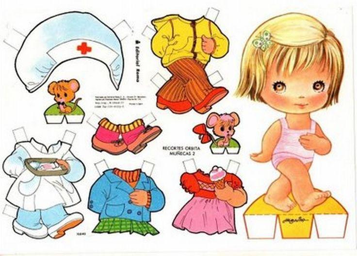 Paper doll muneca recortables | MUÑECAS RECORTABLES
