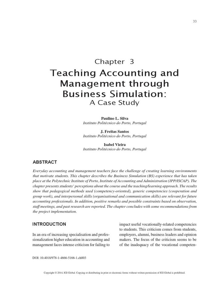 Management and Accounting Education