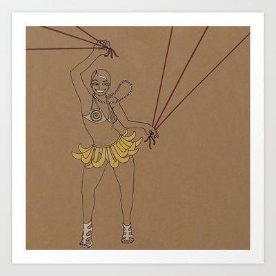 Josephine Baker Dance Art Print by fortes - illustrations - $15.00