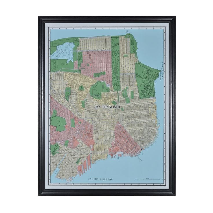 San Jose Interactive Map%0A San Francisco map   Timothy Oulton These framed city maps pay homage to  each city u    s history