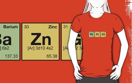 BAZINGA! - periodic elements scramble by dennis william gaylor