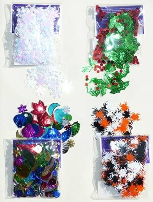 Assorted Craft Packs - Sequins and Decorations