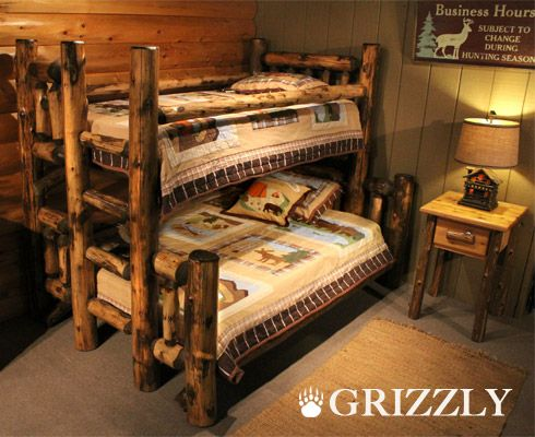 We've got lots of fans of our LogHeads Grizzly Cabin Log Bunk Bed with
