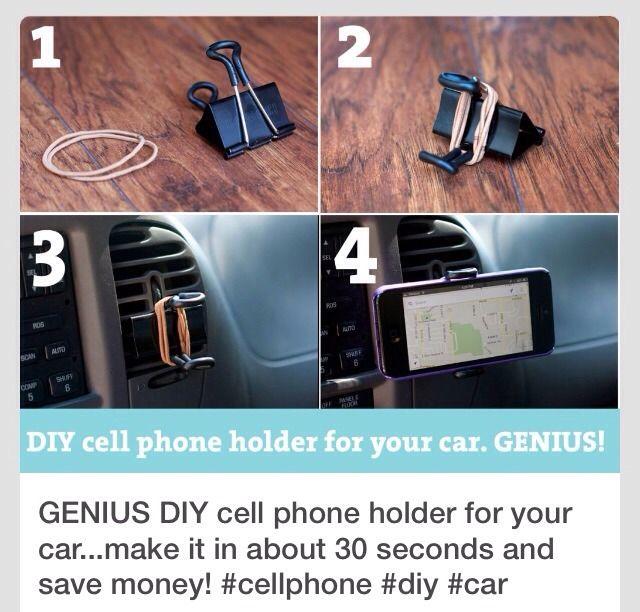 Genius DIY Cell Phone Holder