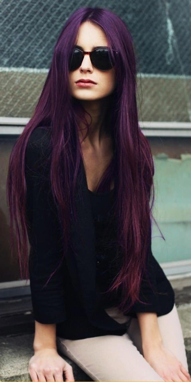 My hair was this color once... years ago. I guess now its referred to as Deep Purple, in my day it was Eggplant.