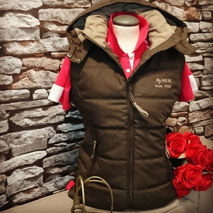 Gorgeous HKM Waistcoat in brown with detachable hood. Perfect for either summer or winter. | Lofthouse Equestrian | HKM Sports Equipment | Practical Gilet with Hood| Country Style