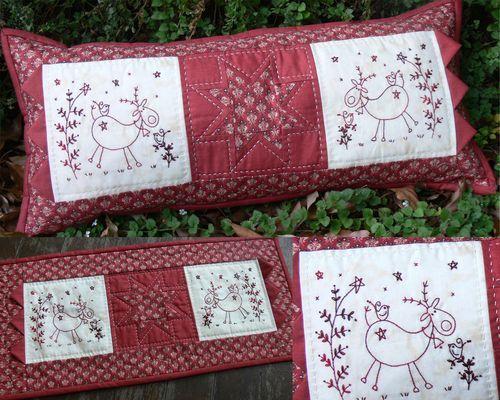 Christmas Frolics - by Gail Pan Designs - Stitchery Pattern