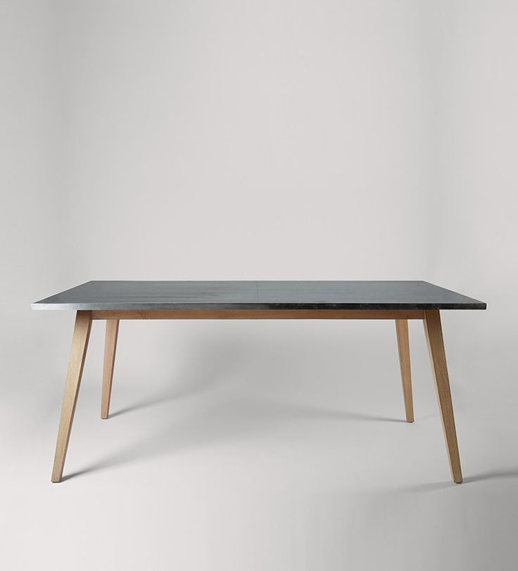 Swoon Editions Dining table, industrial style in mango wood and steel - £349