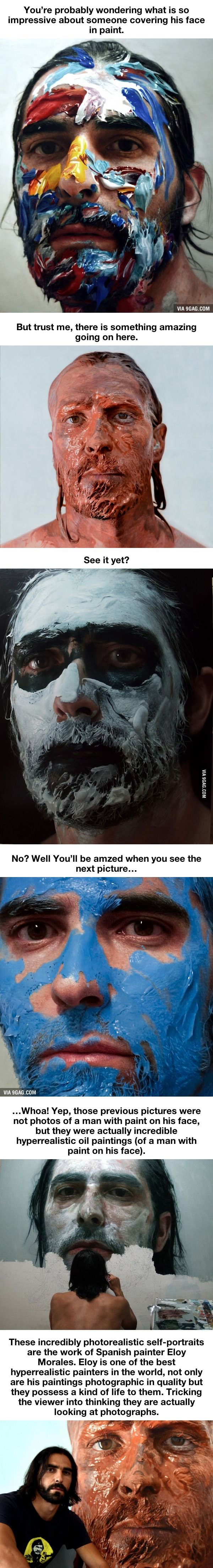 All Is Not As It Seems With The Paint Covered Faces Below - 9GAG