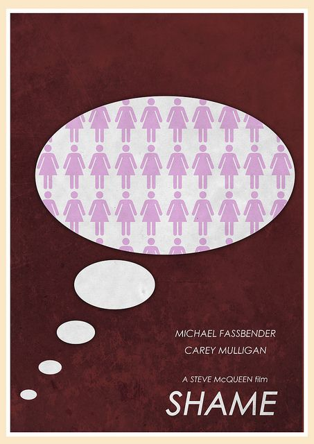 Shame (2011) - Minimal Movie Poster by Jon Glanville #minimalmovieposters #alternativemovieposters #jonglanville
