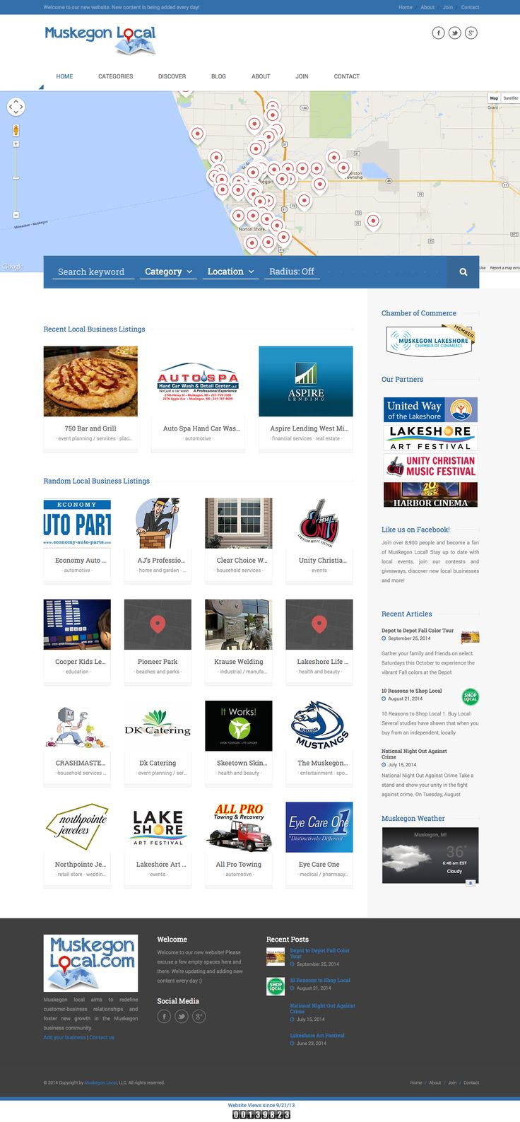 Join over 8,900 people and become a fan of Muskegon Local! Stay up to date with local events, join our contests and giveaways, discover new local businesses and more! More info at: http://muskegonlocal.com Used theme: CITY GUIDE